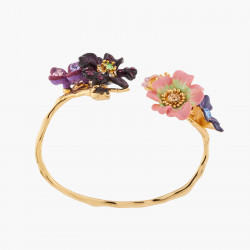 Two-coloured and golden double stone ring