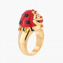 Merry Ladybug Cocktail Ring