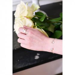 Bracelets Jonc Bracelet Jonc Mariage Fleurs Sur Pierre Transparente110,00€ AKJV203/2Les Néréides