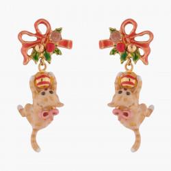 Boucles D'oreilles Clip Boucles D'oreilles Clips Chaton Et Boules De Noël140,00€ AKNO102C/1Les Néréides