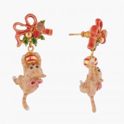 Boucles D'oreilles Pendantes Boucles D'oreilles Tiges Chaton Et Boules De Noël140,00€ AKNO102T/1Les Néréides