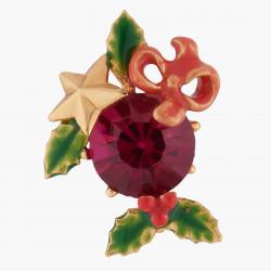 Boucles D'oreilles Clip Boucles D'oreilles Clips Pierre Rouge Et Houx De Noël95,00€ AKNO103C/1Les Néréides