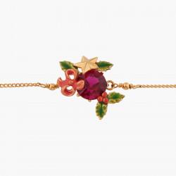 Bracelets Fins Bracelet Pendentif Pierre Rouge Et Houx De Noël90,00€ AKNO202/1Les Néréides