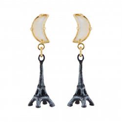 Boucles D'oreilles Pendantes Boucles D'oreilles Tour Eiffel Au Clair De Lune