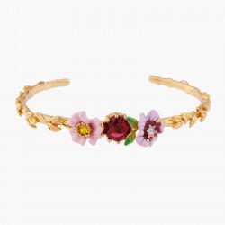 Bracelets Jonc Bracelet Jonc Fleurs Roses Et Violettes130,00€ ALRE203/1Les Néréides