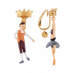 Boucles D'oreilles Boucles D'oreilles Clip Asymétriques Prince Et Ballerine Cygne Noir55,00€ AGBB101C/1N2 by Les Néréides