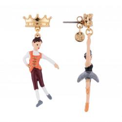 Boucles D'oreilles Boucles D'oreilles Asymétriques Prince Et Ballerine Cygne Noir55,00€ AGBB101T/1N2 by Les Néréides