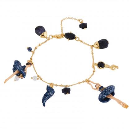Bracelets Charms Bracelet Ballerine Nuit Pailletée Et Pampilles110,00€ AGDD203/1Les Néréides