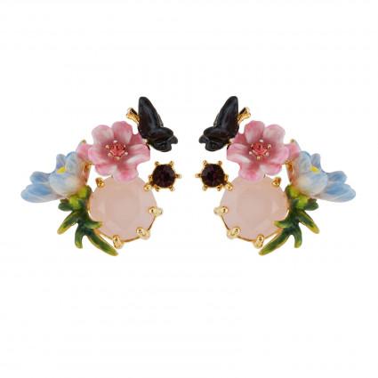 Boucles D'oreilles Clip Boucles D'oreilles Clip Petites Fleurs, Papillon Et Verre Taillé55,00€ AGHI102C/1Les Néréides