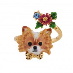 Bagues Ajustables Bague Ajustable Chihuahua Et Petite Fleur80,00€ AGLA601/1Les Néréides