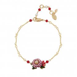 Pulsera Flor Rosa Con...