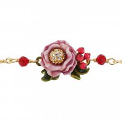 Bracelets Fins Bracelet Fleur Rose Au Pistil Strassé Et Petites Baies Rouges85,00€ AGNE201/1Les Néréides