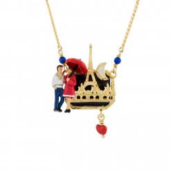 Colliers Pendentifs Collier Amoureux En Balade Nocture Aux Pieds De La Tour Eiffel