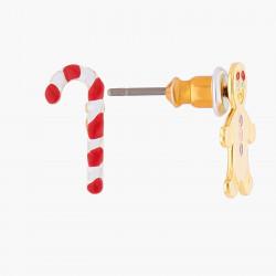 Boucles D'oreilles Boucles D'oreilles Asymétriques Tiges Sucre D'orge Et Petit Bonhomme De Pain D'épices30,00€ ALHG102T/1N2 ...