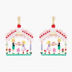 Boucles D'oreilles Originales Boucles D'oreilles Tiges Hansel Et Gretel Dans La Maison Sucrée90,00€ ALHG106T/1N2 by Les Néré...