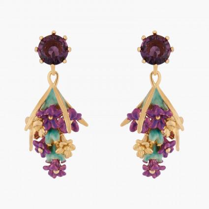 Boucles D'oreilles Pendantes Boucles D'oreilles Tiges Bouquet De Lavande120,00€ ALPE101T/1Les Néréides