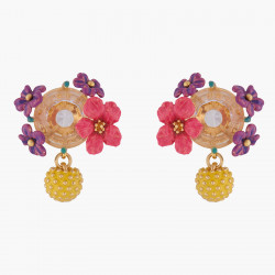 Lemon And Flower Stud Earrings