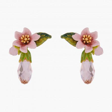Bracelet semi-jonc lapin, fleurs et baies sauvages