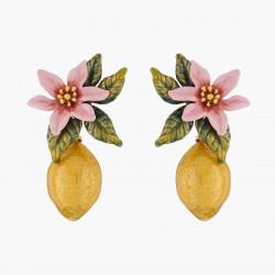 Boucles D'oreilles Pendantes Boucles D'oreilles Tiges Fleur De Citronnier Et Citron160,00€ ALPE106T/1Les Néréides