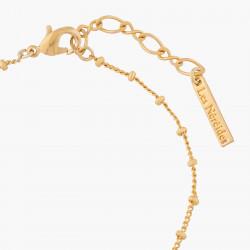 Bracelets Fins Bracelet Fin Fleurs De Laurier Rose Et Pierre Carré80,00€ ALPE205/1Les Néréides