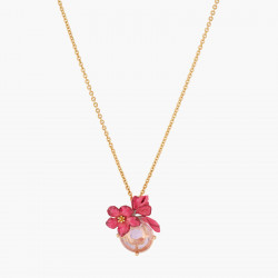 Collar Colgante Flor De Adelfa