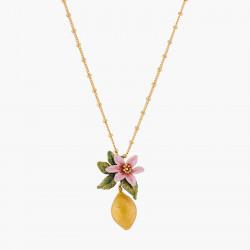 Colliers Pendentifs Collier Pendentif Fleur De Citronnier Et Citron130,00€ ALPE307/1Les Néréides