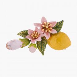 Broche Limón Y Flores