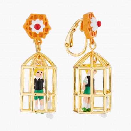 Bague 3 anneaux, verre taillé, Paris et petits coeurs