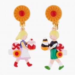 Boucles D'oreilles Boucles D'oreilles Asymétriques Clips Les Douceurs D'hansel Et Gretel70,00€ ALHG105C/1N2 by Les Néréides