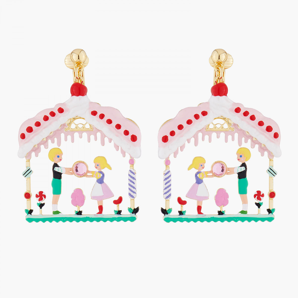 Boucles D'oreilles Originales Boucles D'oreilles Clips Hansel Et Gretel Dans La Maison Sucrée90,00€ ALHG106C/1N2 by Les Néré...