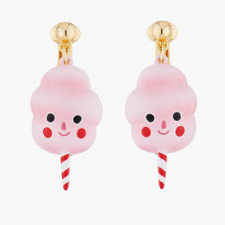 Candy Floss Clip On Earrings