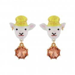 Boucles D'oreilles Boucles D'oreilles Clip Zoé L'agnelle Et Verre Taillé