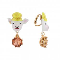 Boucles D'oreilles Boucles D'oreilles Clip Zoé L'agnelle Et Verre Taillé75,00€ AHGJ101C/1N2 by Les Néréides