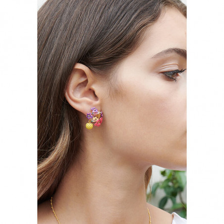 Bouquet of roses earrings