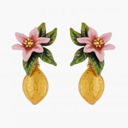 Boucles D'oreilles Clip Boucles D'oreilles Clip Fleur De Citronnier Et Citron160,00€ ALPE106C/1Les Néréides