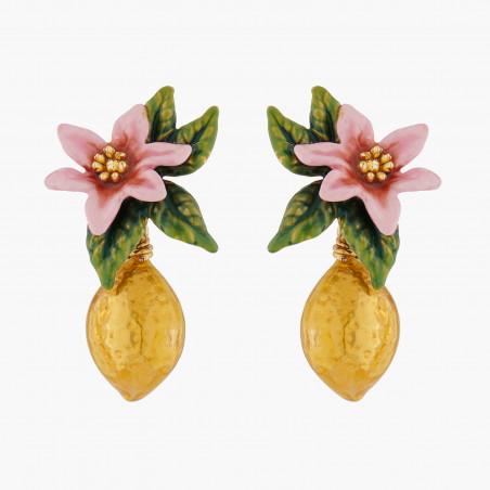 Bijoux d'oreilles ribambelle de roses