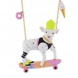 Colliers Collier Zoé L'agnelle Coréenne Sur Son Skateboard