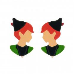 Boucles D'oreilles Boucles D'oreilles Clip Visage De Peter Pan
