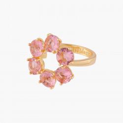 Bagues Fines Bague Fine 6 Pierres La Diamantine Rose Pêche70,00€ ALLD619/1Les Néréides