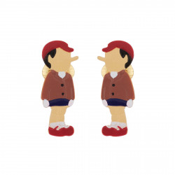 Pinocchio Clip-on Earrings