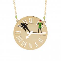 Colliers Sautoir Peter Pan Et Son Ombre Sur Le Cadran De Big Ben