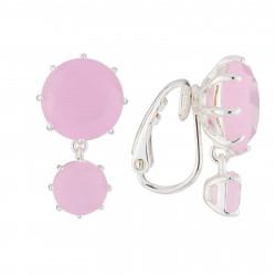 Boucles D'oreilles Clip Boucles D'oreilles À Clip La Diamantine 2 Pierres Asymétriques Rose60,00€ AJLD126C/2Les Néréides