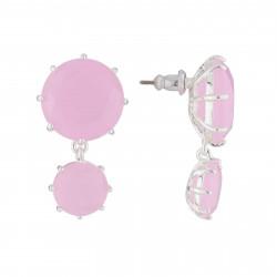 Boucles D'oreilles Pendantes Boucles D'oreilles Tige La Diamantine 2 Pierres Asymétriques Rose60,00€ AJLD126T/2Les Néréides