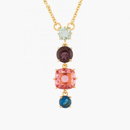 Colliers Pendentifs Collier Pendentif 4 Pierres La Diamantine Multicolore80,00€ AKLD320/1Les Néréides