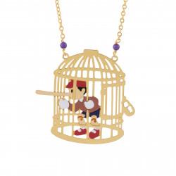 Colliers Sautoir Pinocchio Le Menteur Dans Sa Cage