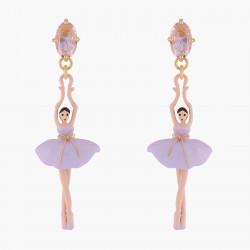 Boucles D'oreilles Pendantes Boucles D'oreilles Tiges Ballerine Lilas Sur Pointes95,00€ ALDD115T/1Les Néréides