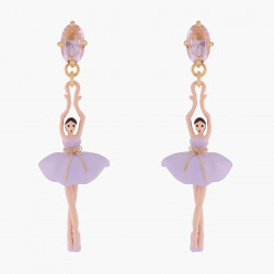 Lilac Ballerina Stud Earrings