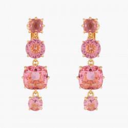 Boucles D'oreilles Clip Boucles D'oreilles Clips 4 Pierres La Diamantine Rose Pêche80,00€ ALLD120C/1Les Néréides