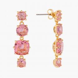 Boucles D'oreilles Pendantes Boucles D'oreilles Tiges 4 Pierres La Diamantine Rose Pêche80,00€ ALLD120T/1Les Néréides