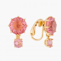 Boucles D'oreilles Clip Boucles D'oreilles Clips 2 Pierres Rondes La Diamantine Rose Pêche60,00€ ALLD126C/1Les Néréides